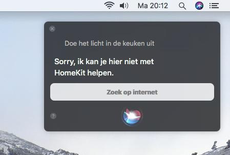 Siri homekit macOS High Sierra