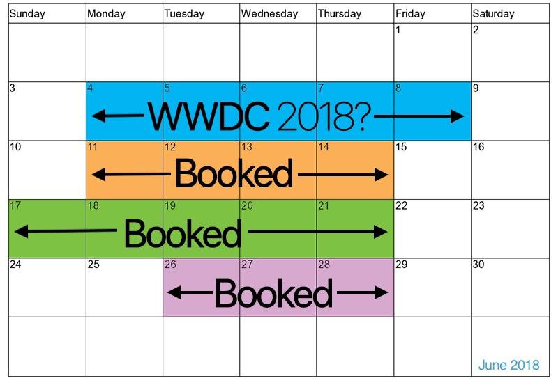 WWDC kalender juni 2018
