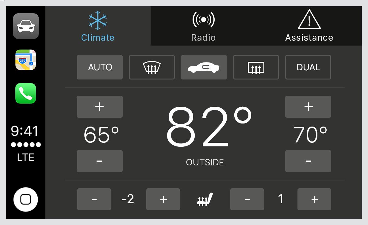 CarPlay automaker app