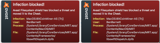 Avast libswiftDispatch.dylib Mac