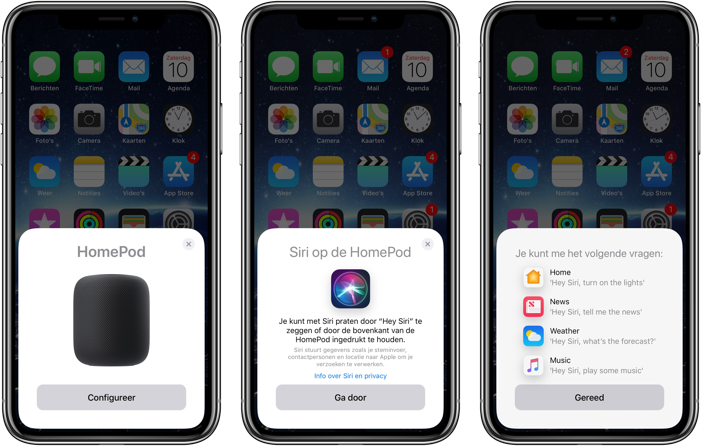 homepod instellen screenshots