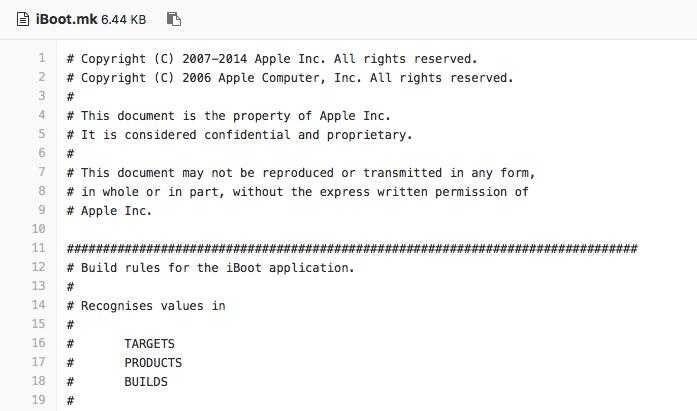 iBoot iOS 9 broncode
