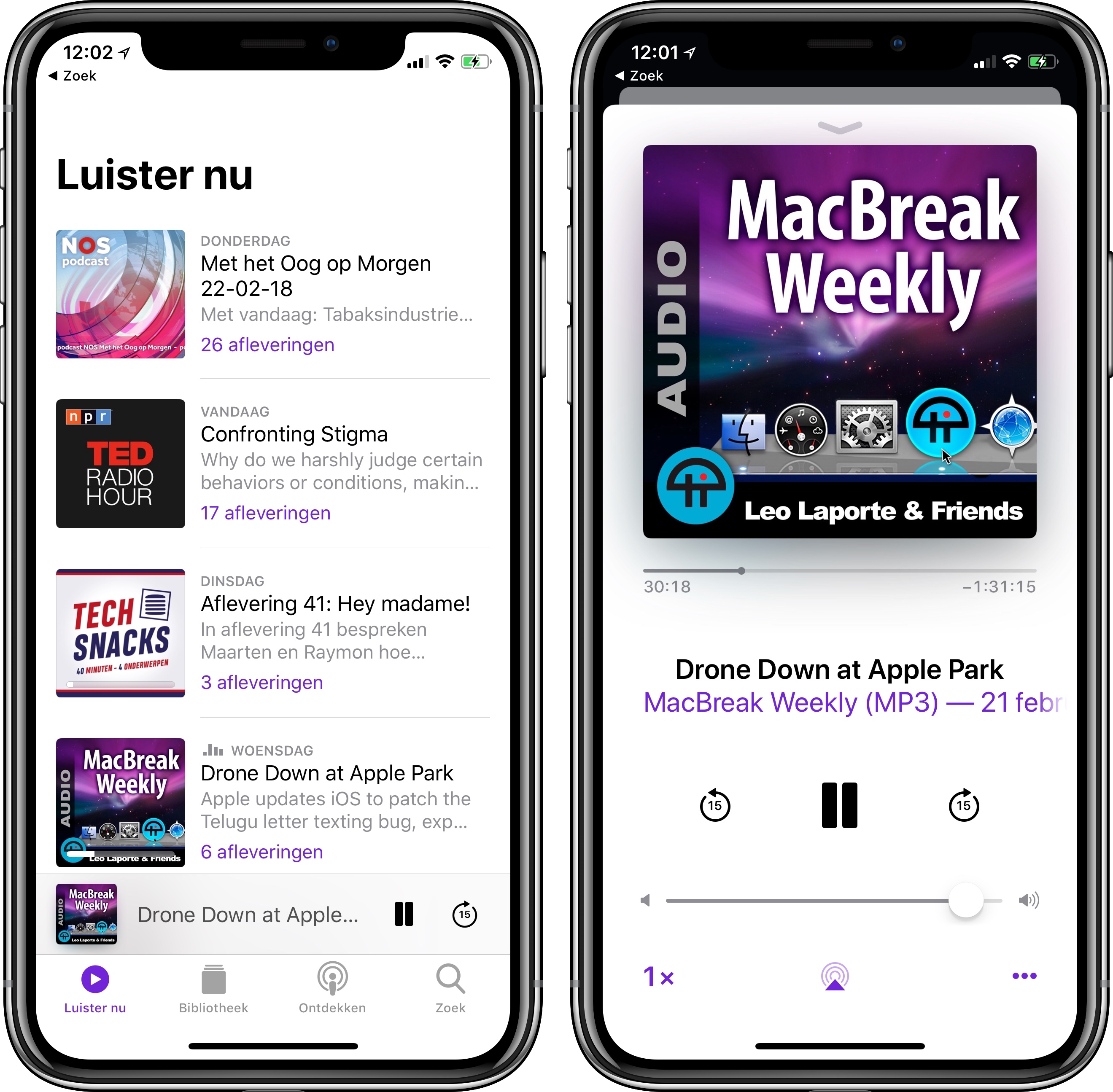 Podcasts app iOS