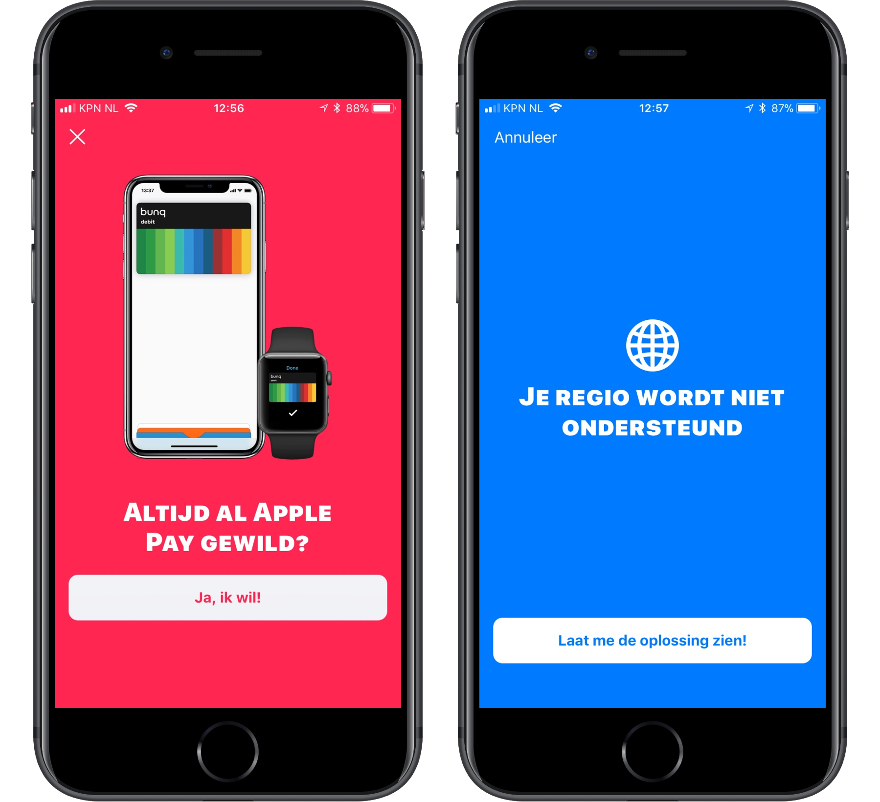 Apple Pay Nederland Bunq