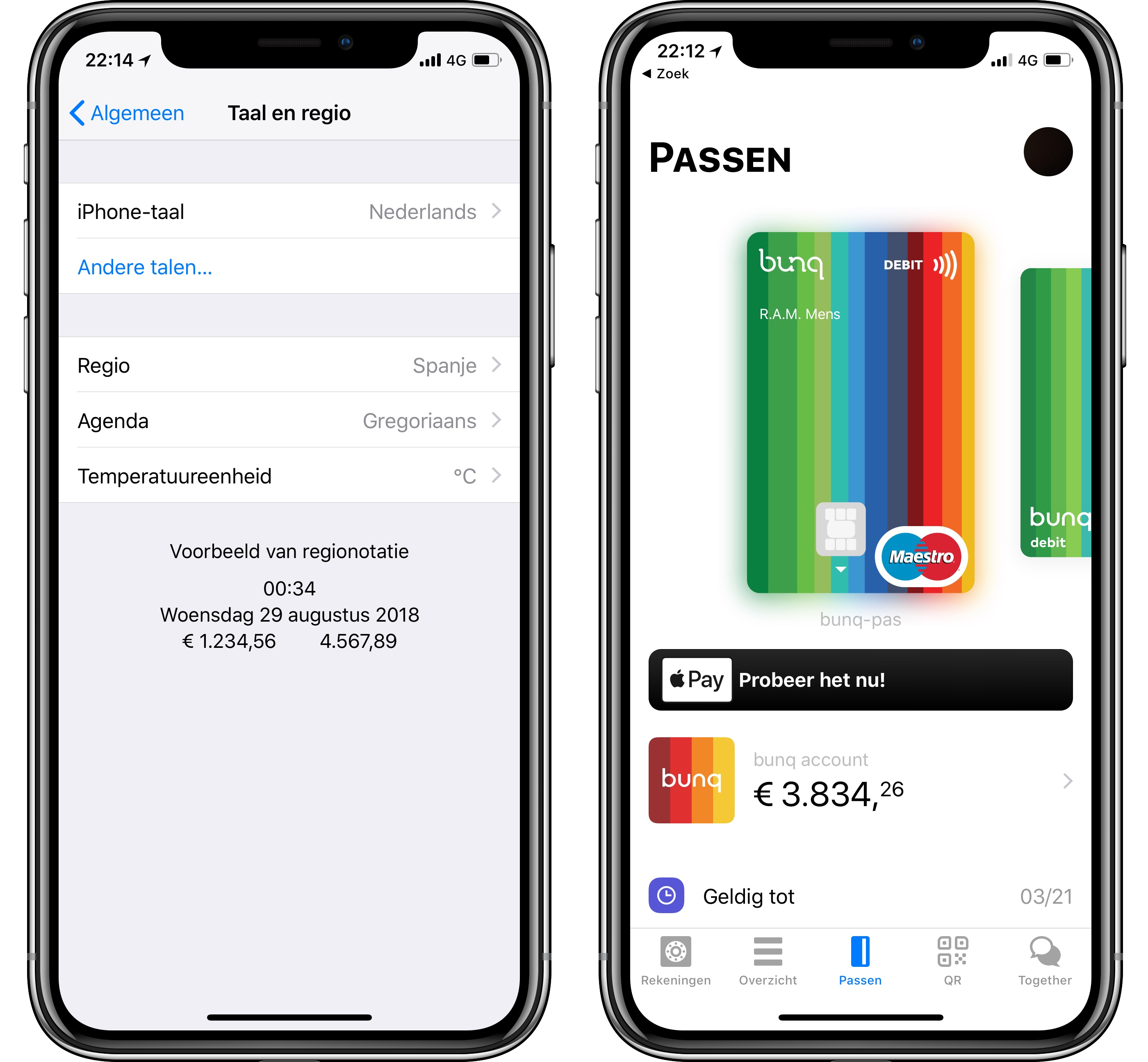 Bunq Apple Pay Nederland 001