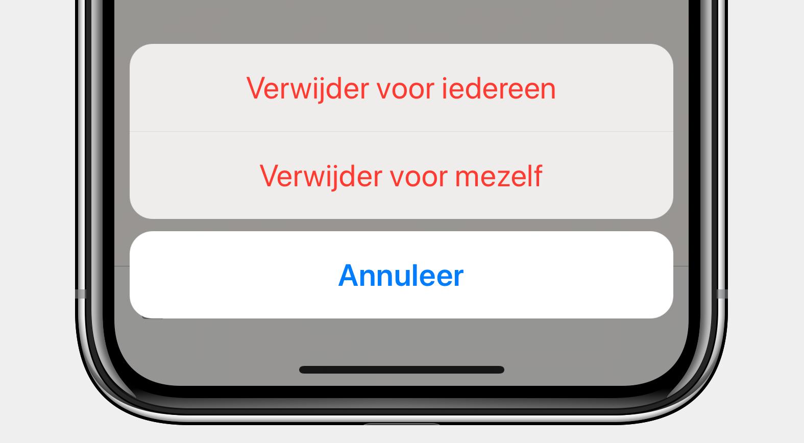 Whatsapp verwijder bericht screenshot