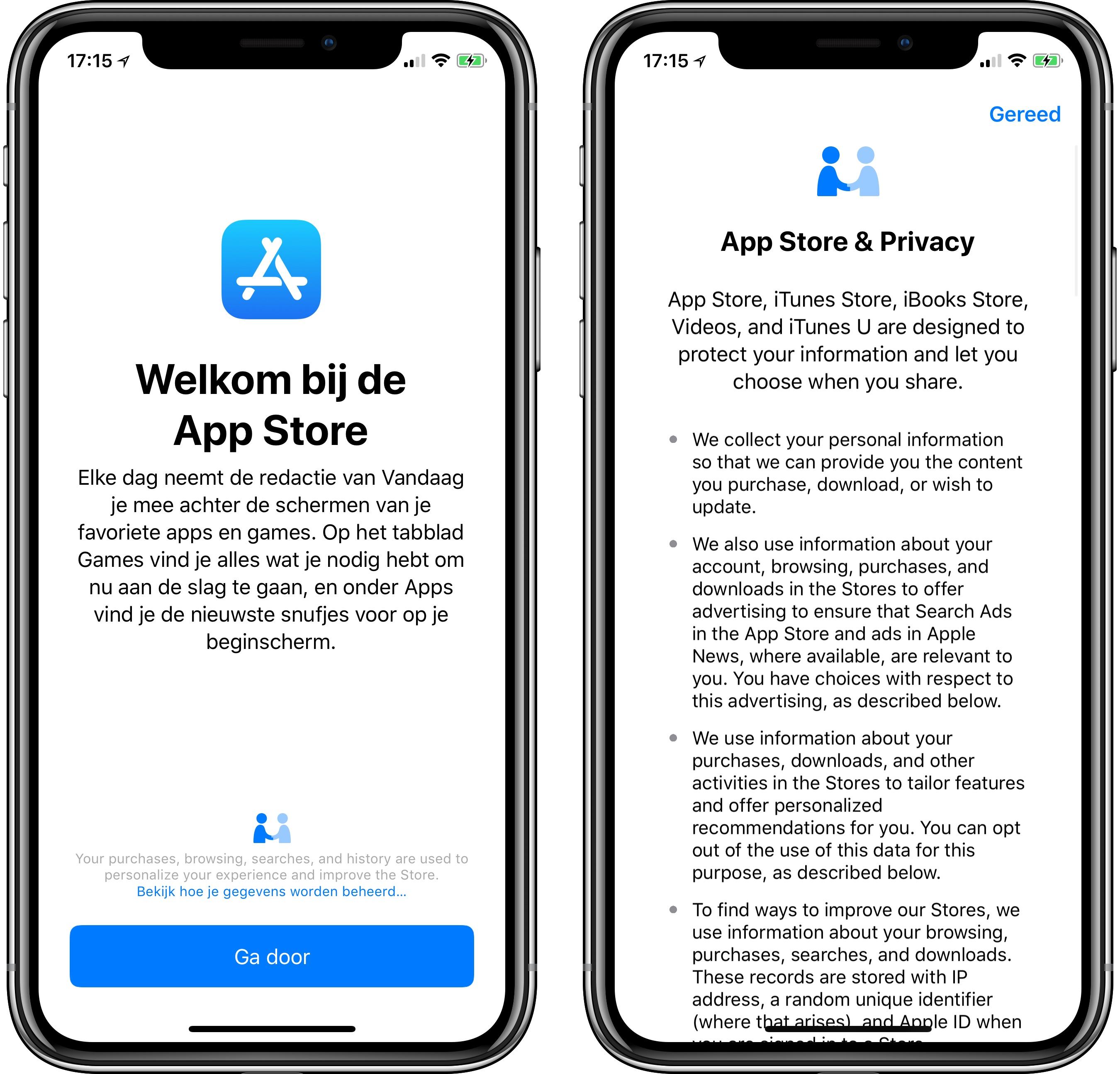 iOS 11.3 privacyschermen