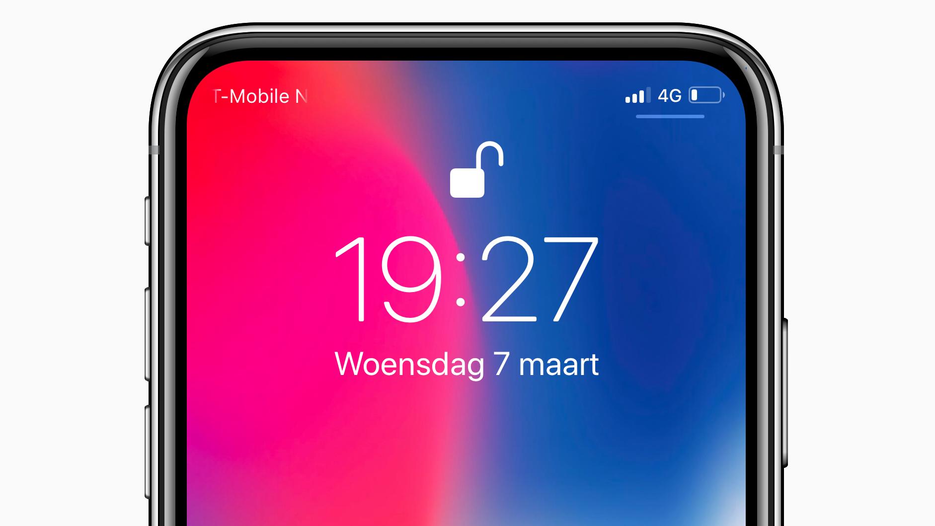 iPhone X No Notch concept