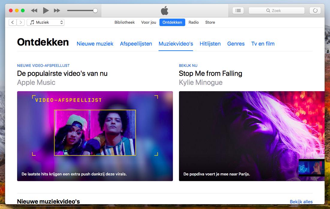 iTunes muziekvideos'