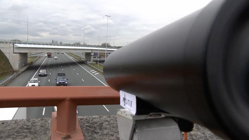Politie camera smartphonegebruik auto