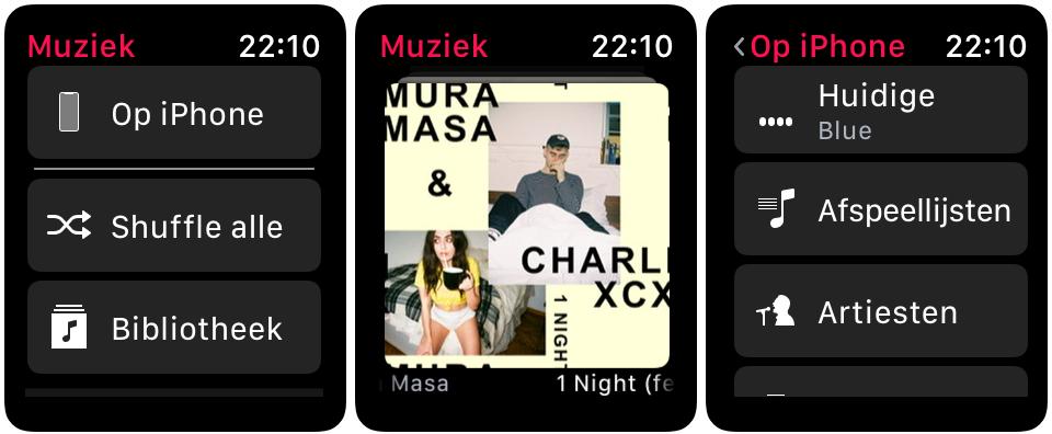 watchOS 4.3 muziek