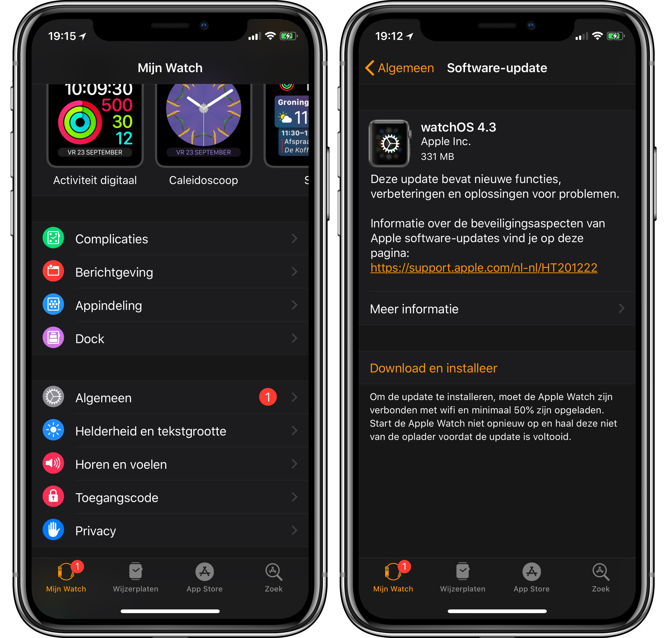 watchOS 4.3 update