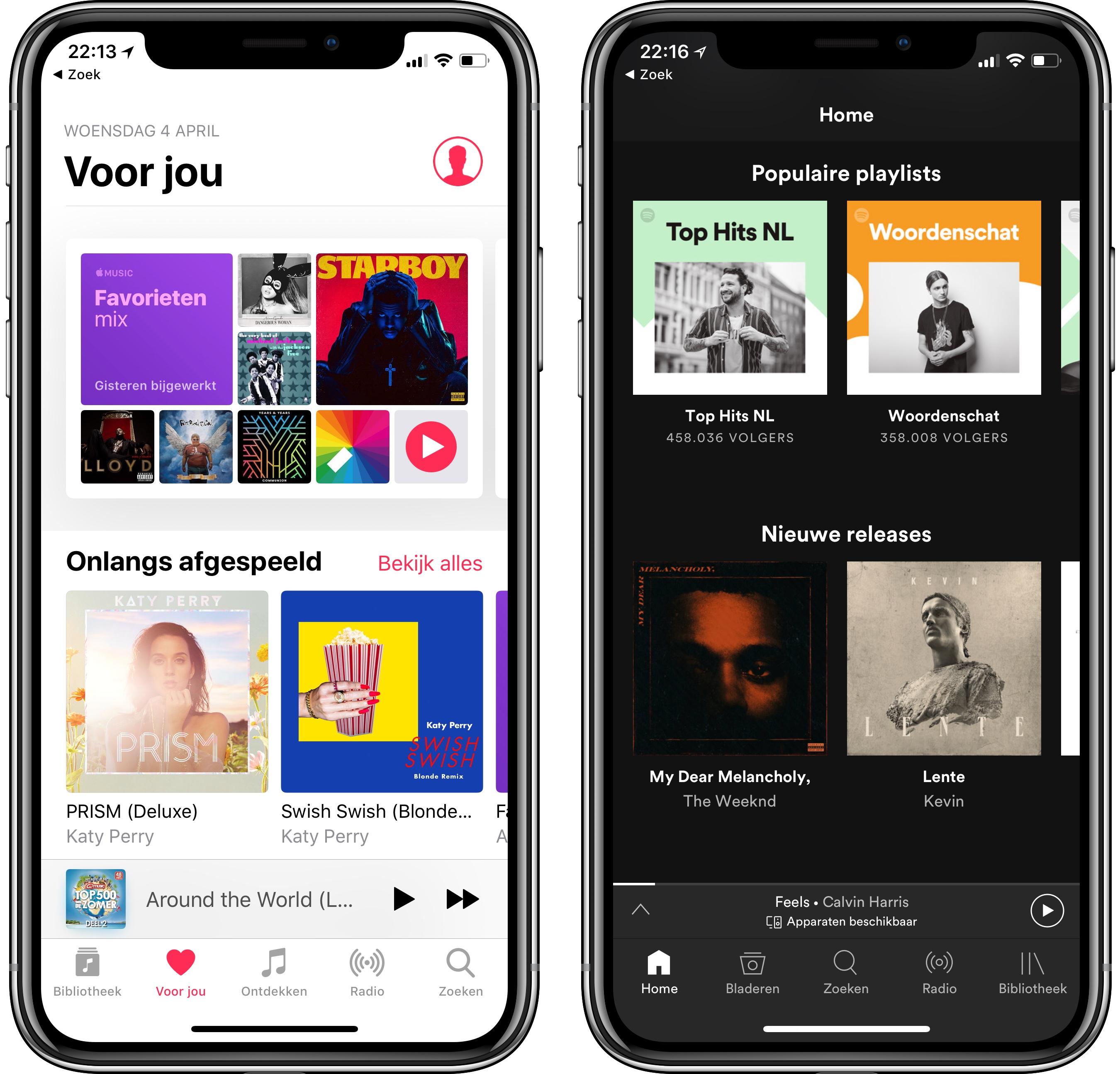 Apple Music en Spotify