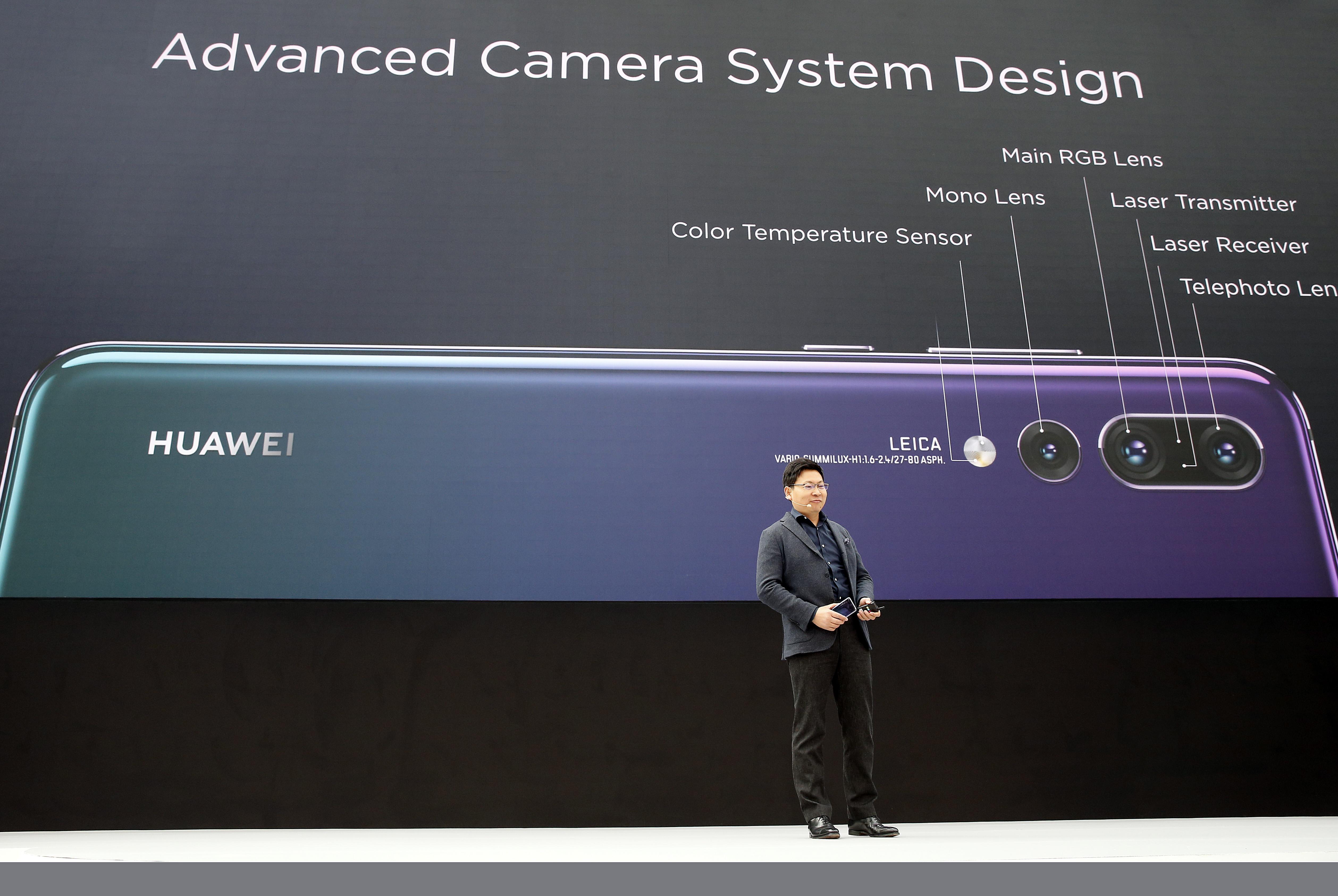 Huawei P20 Pro met drie cameralenzen