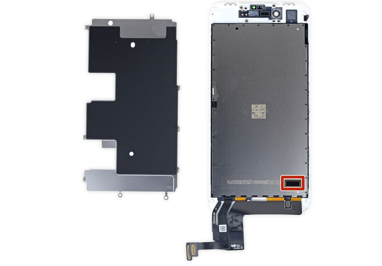 iPhone 8 scherm chip iFixit