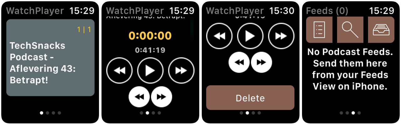 podcast watchplayer apple watch