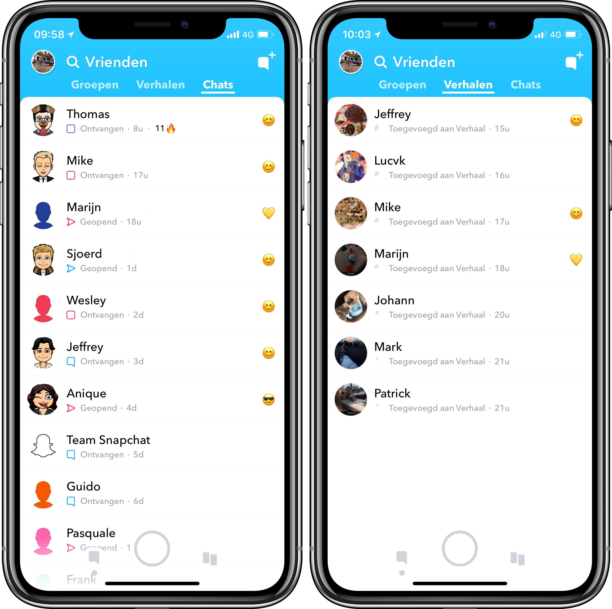 Snapchat nieuw ontwerp