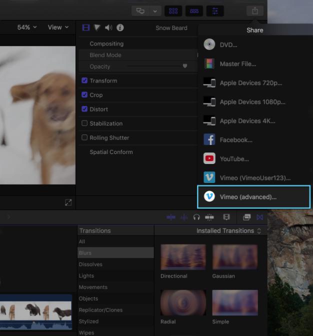 Vimeo macOS Final Cut Pro X