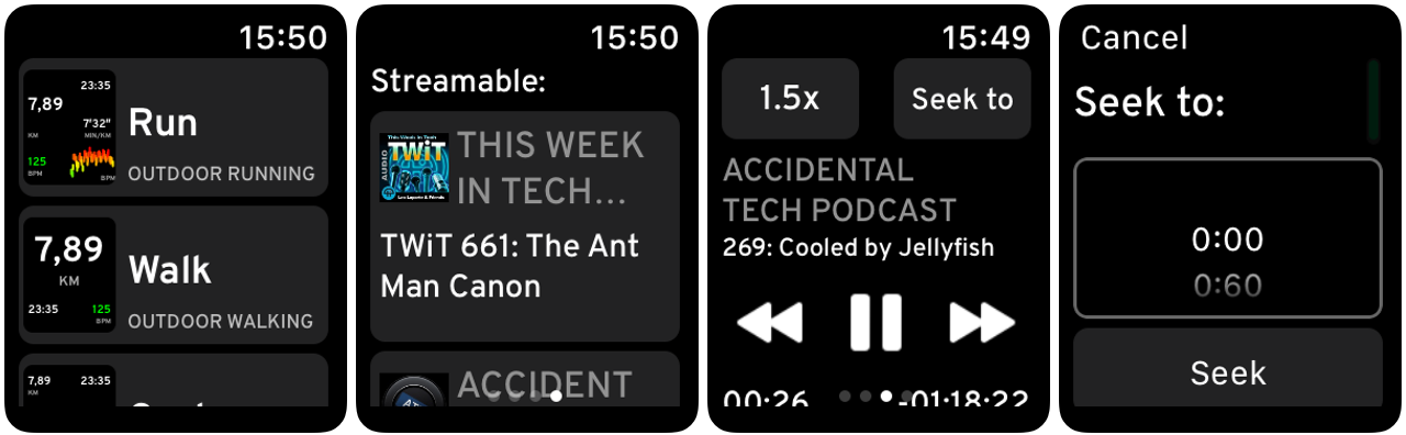 workouts podcasts apple watch
