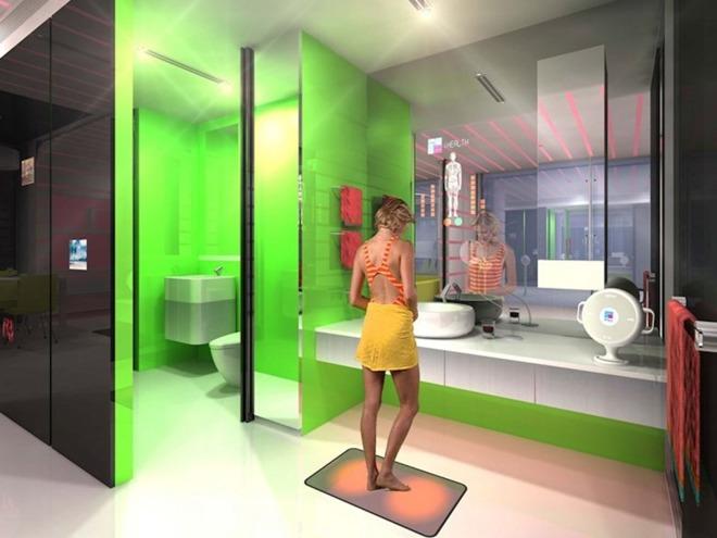 Badkamer met gezondheidsanalyse