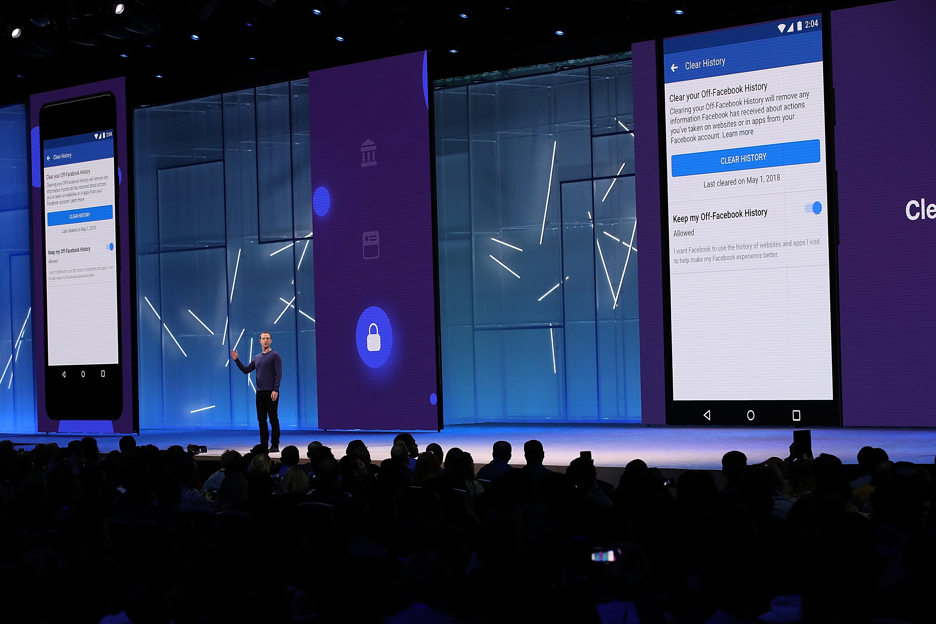 Facebook F8 2018 Clear History
