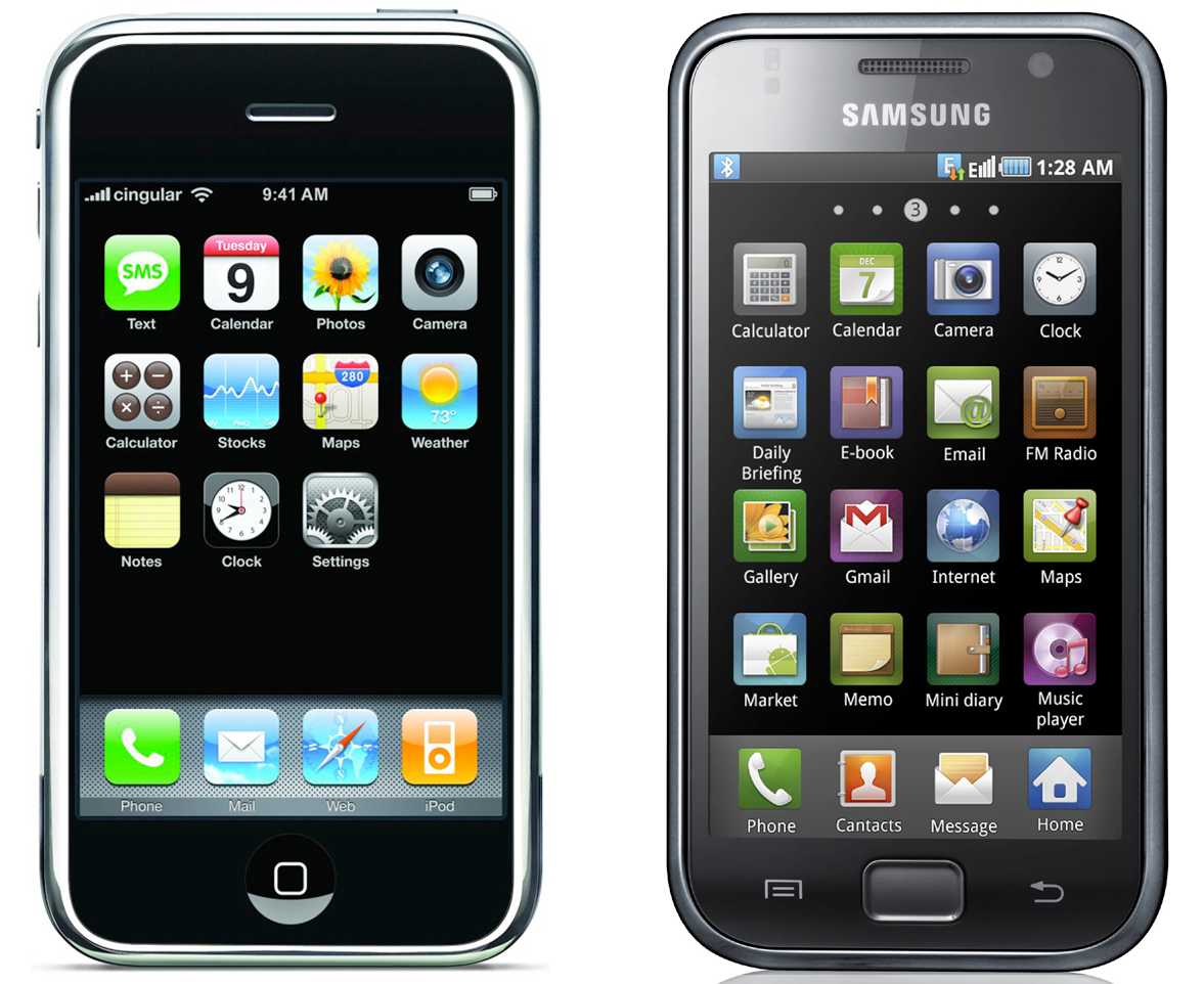 Samsung Galaxy S 2010 iPhone 2010