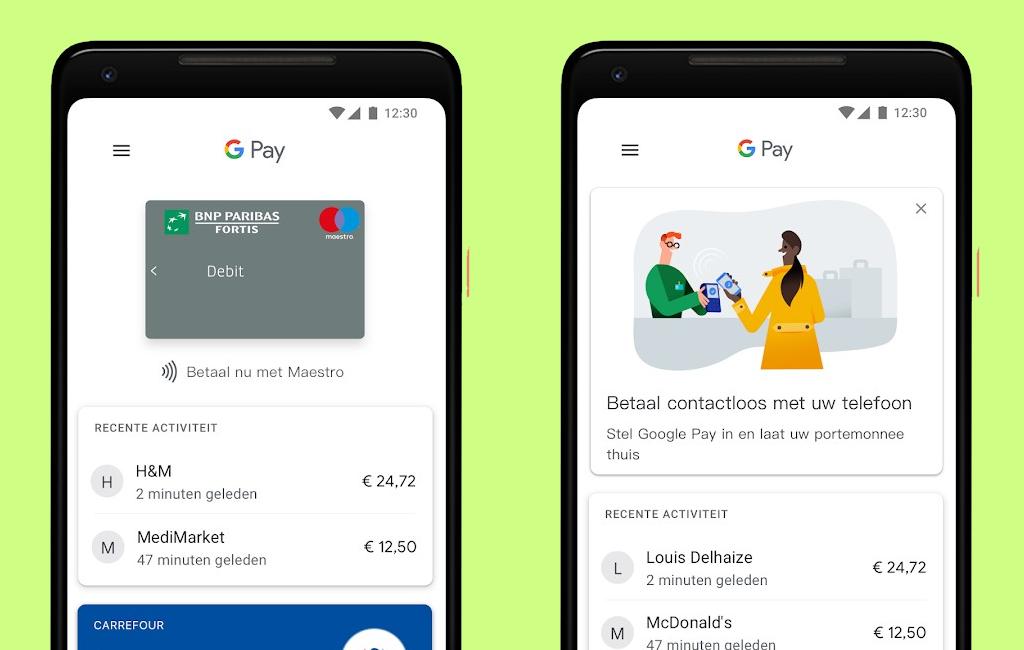 Google Pay Belgie