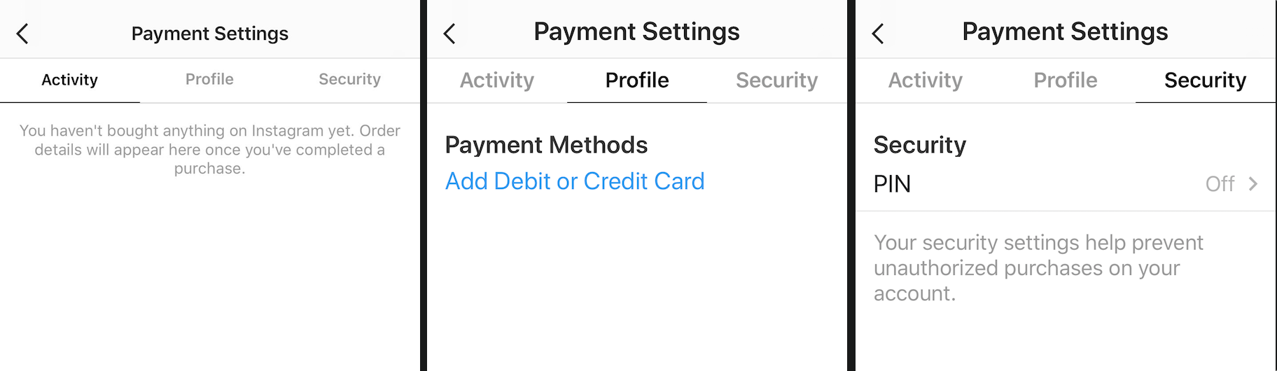 Instagram betalen