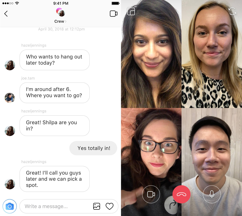 Instagram Videobellen Facebook F8 2018