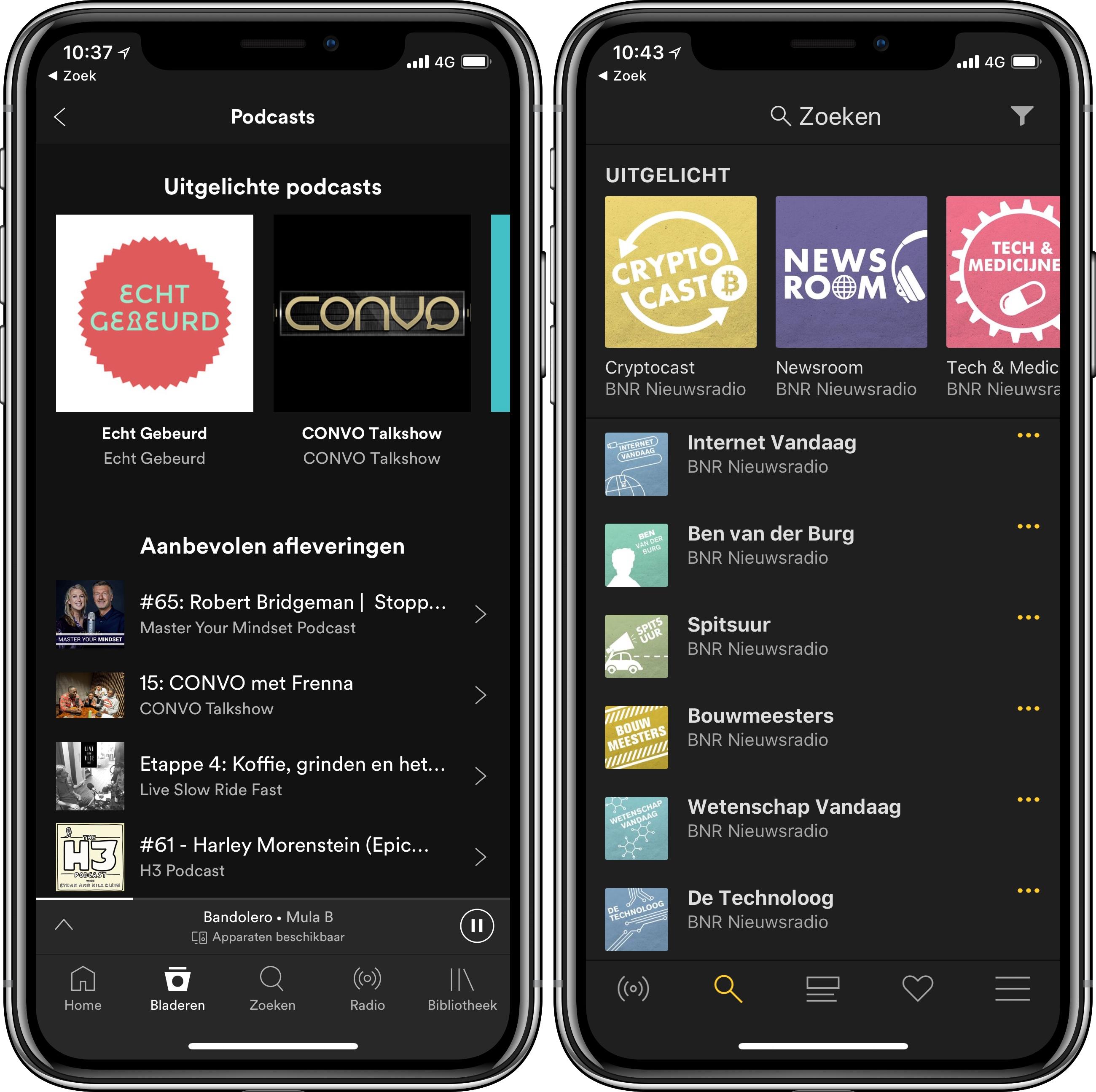 Podcast apps Spotify BNR