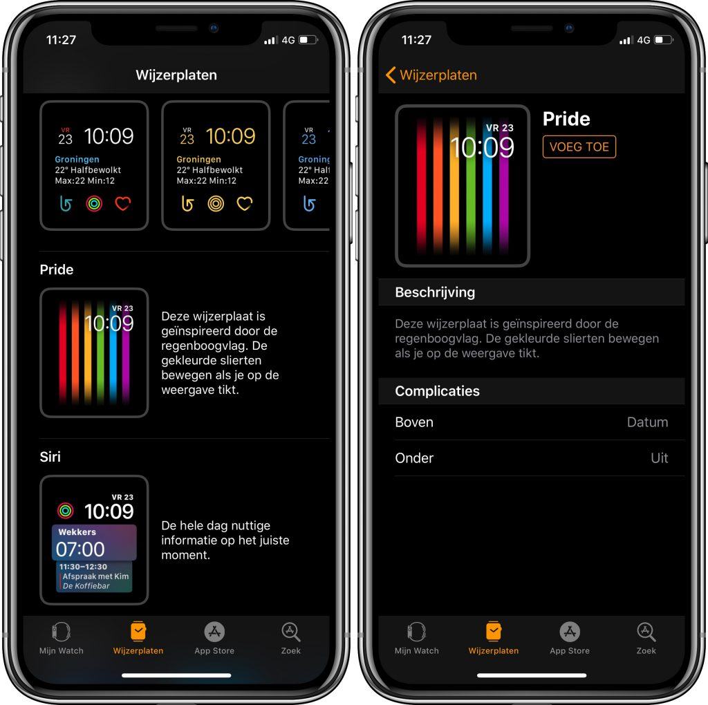 Apple Watch pride-wijzerplaat
