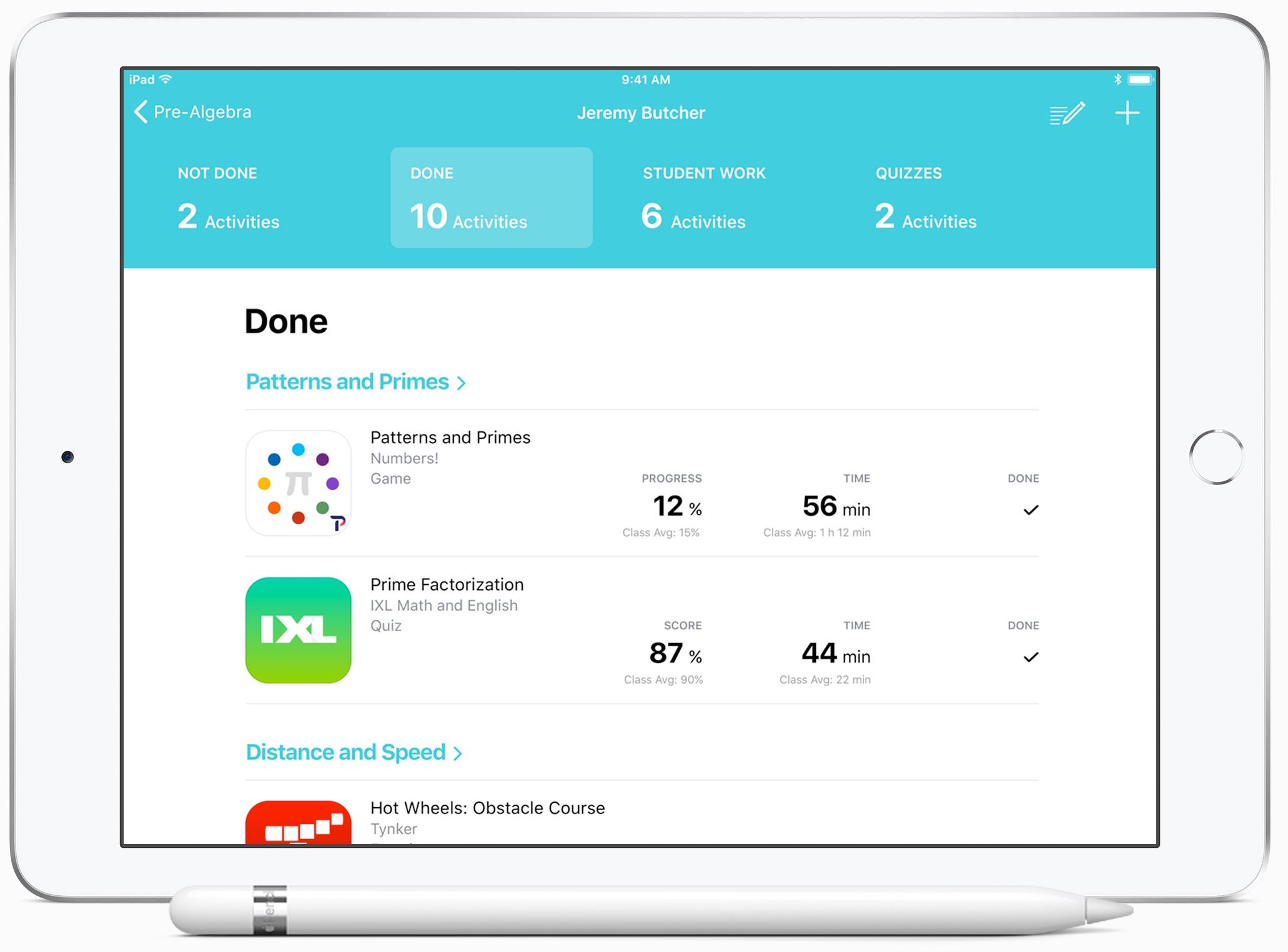 Apple schoolwerk-app docenten