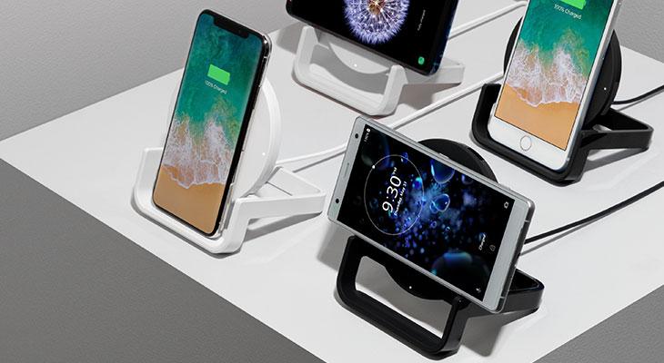 draadloos laden iPhone belkin staand liggend
