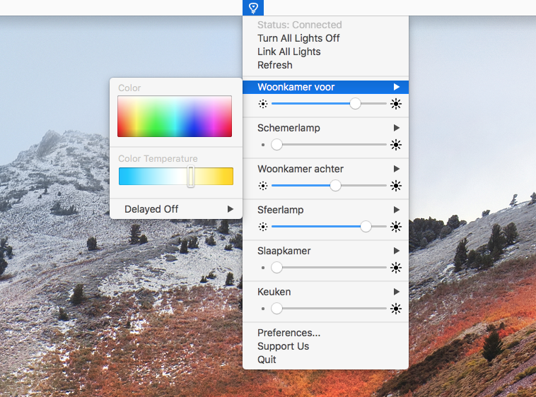 Colors for Hue Mac