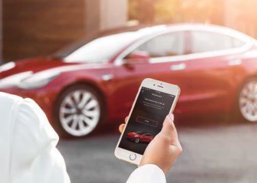 Tesla iPhone app