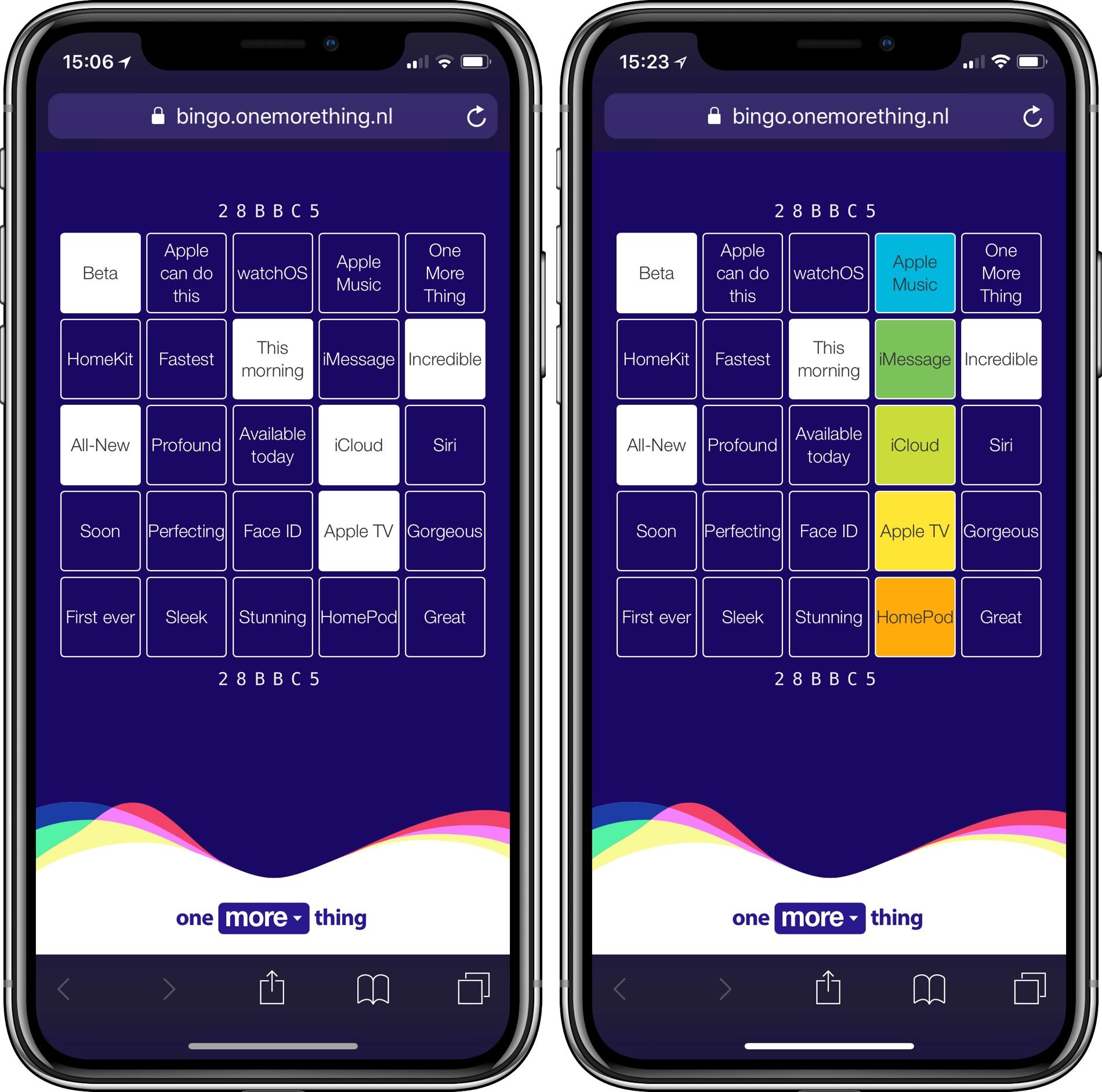 WWDC Keynote Bingo