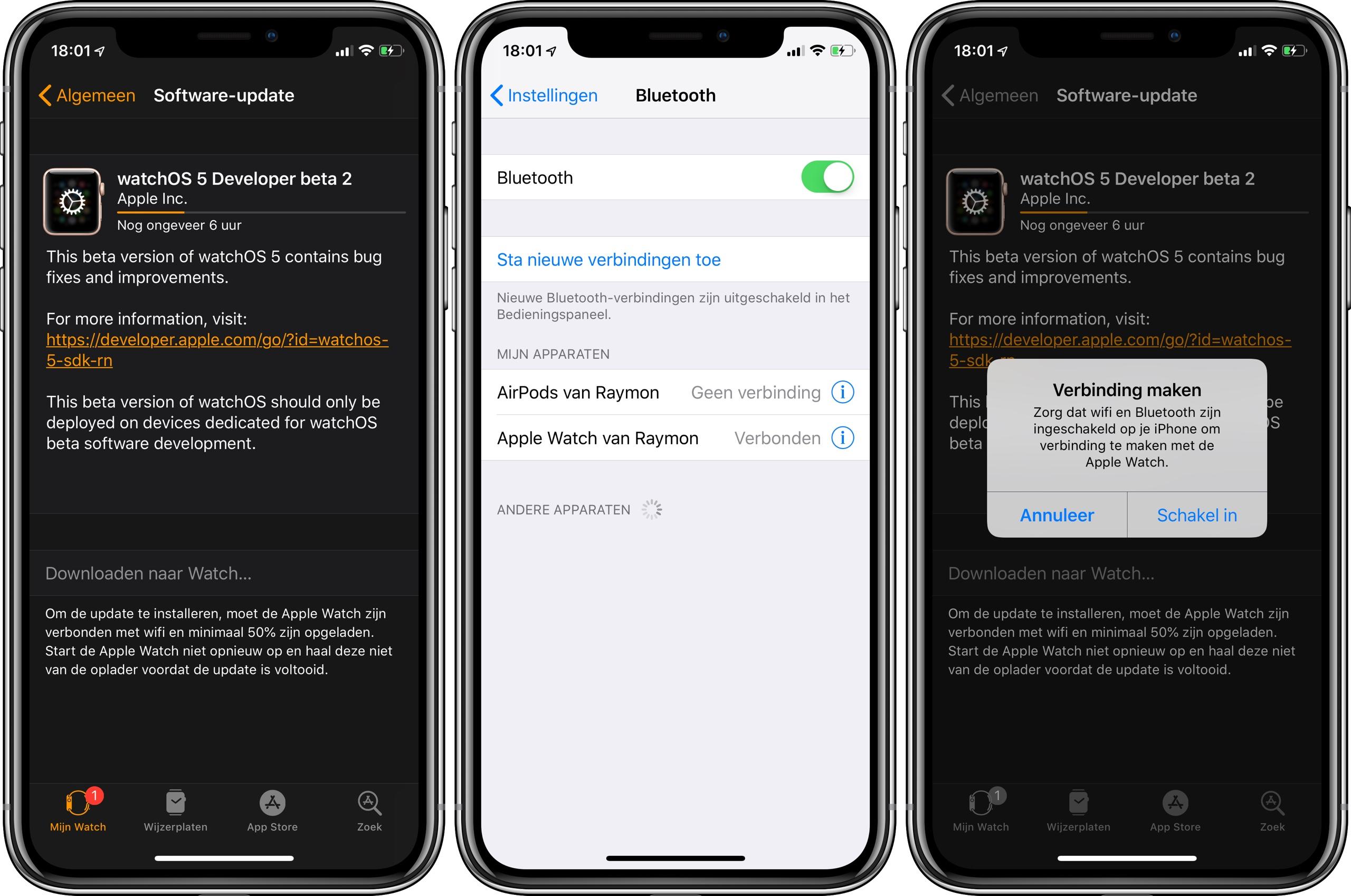 Apple Watch update installeren