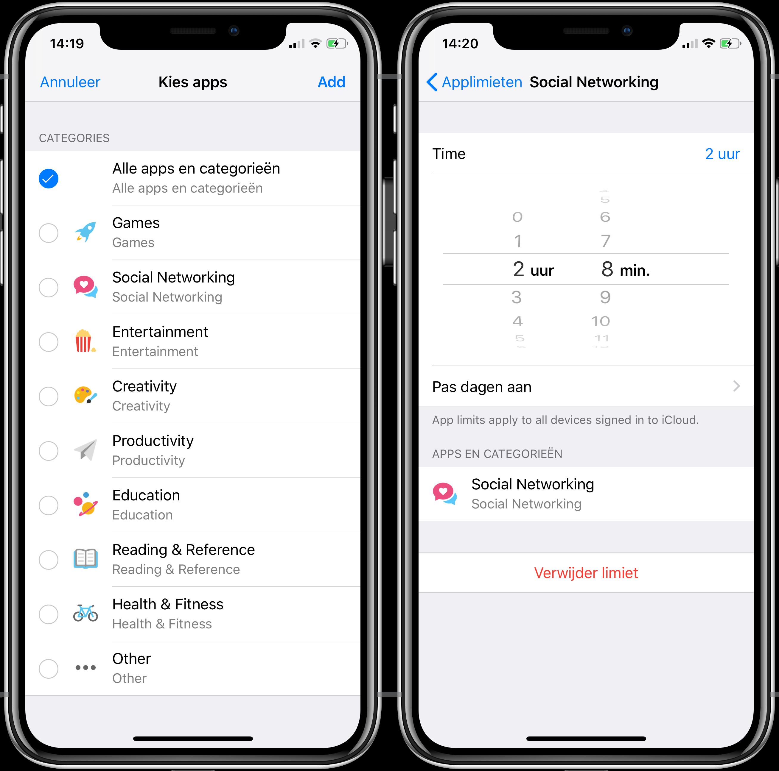 iOS 12 applimieten