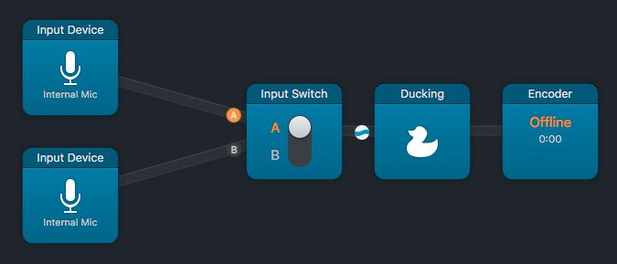 Audio Hijack input switch