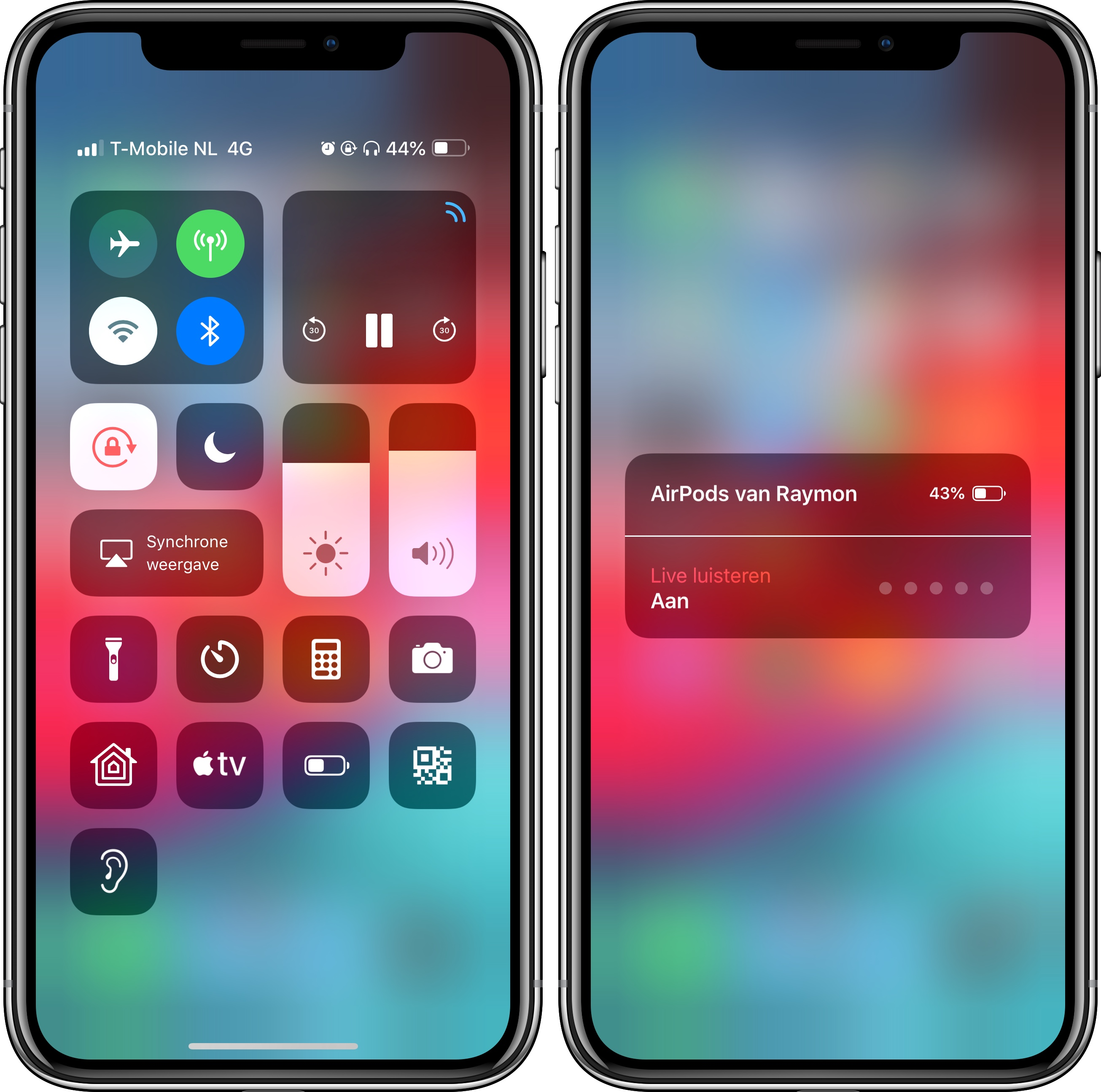 iOS 12 AirPods Live Luisteren