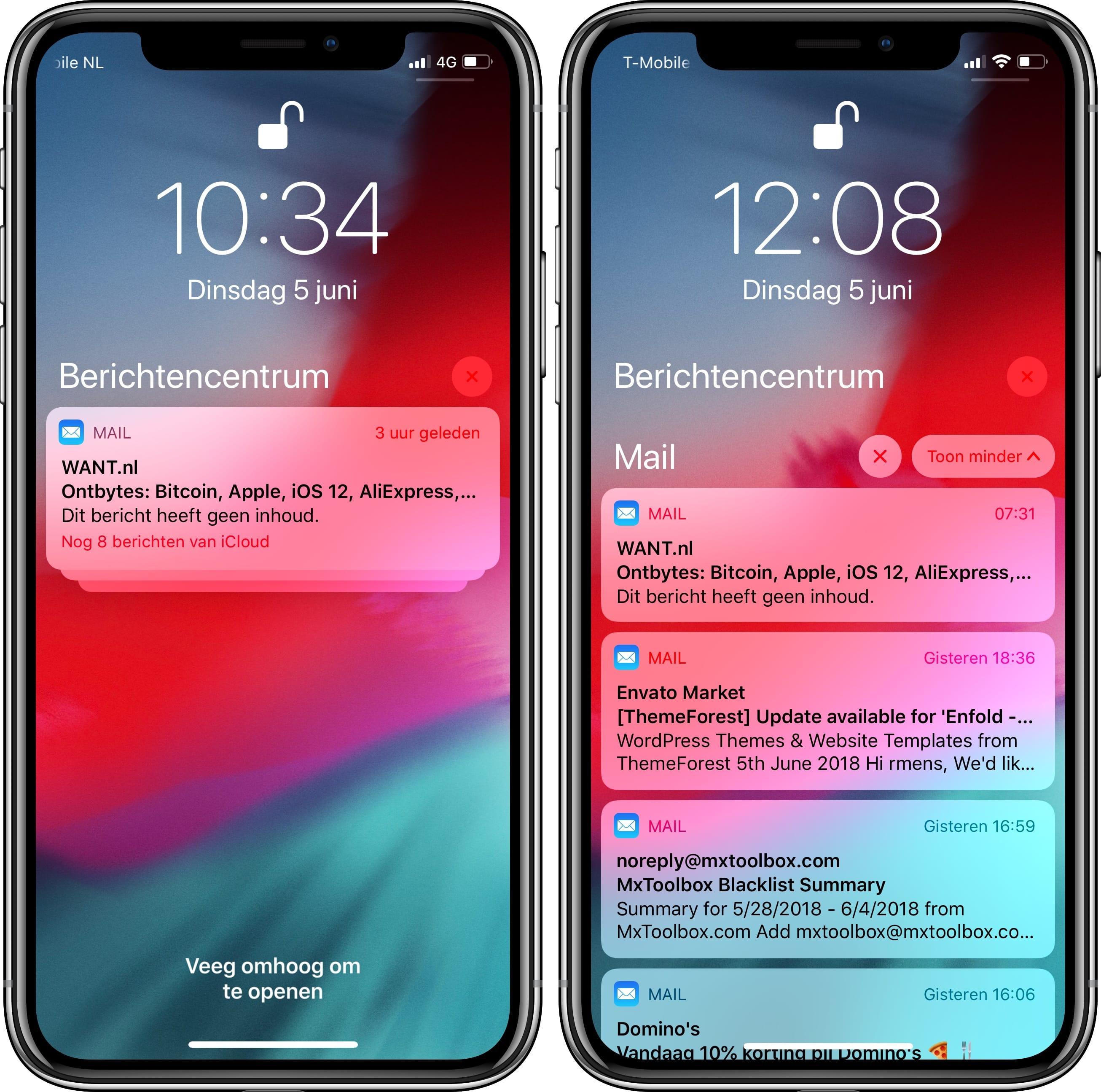 iOS 12 pushberichten