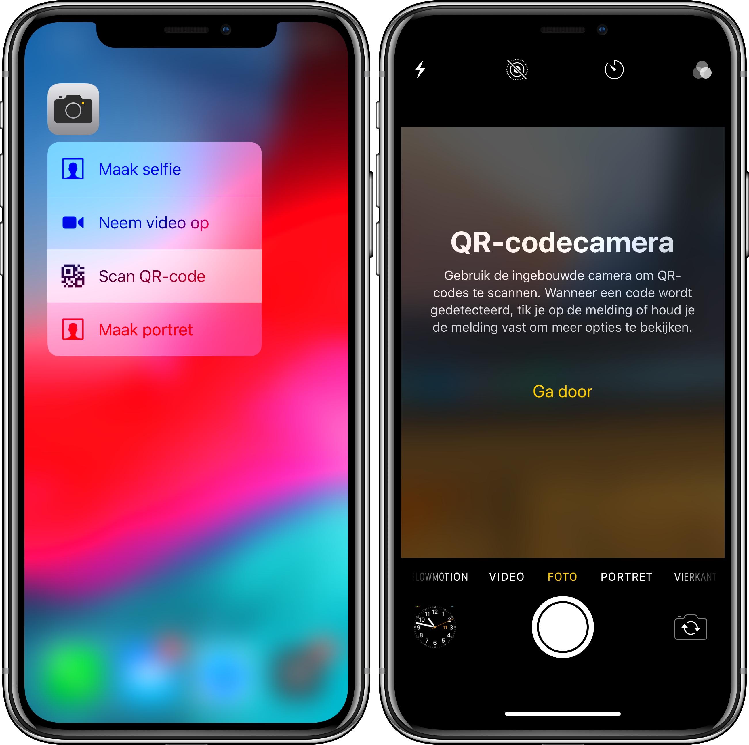 iOS 12 QR-code