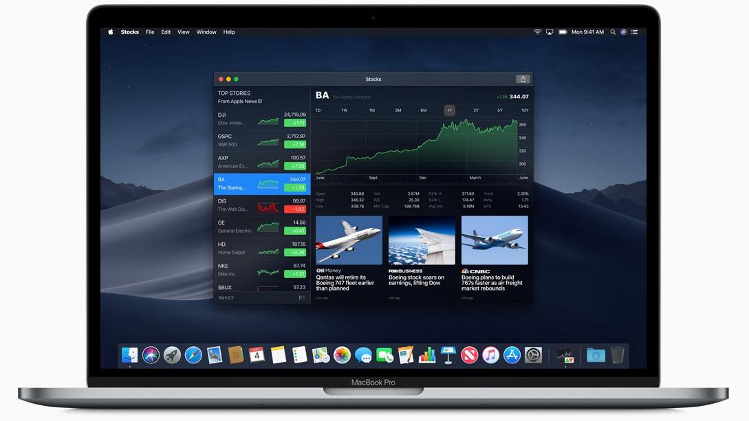 universele apps macos aandelen app