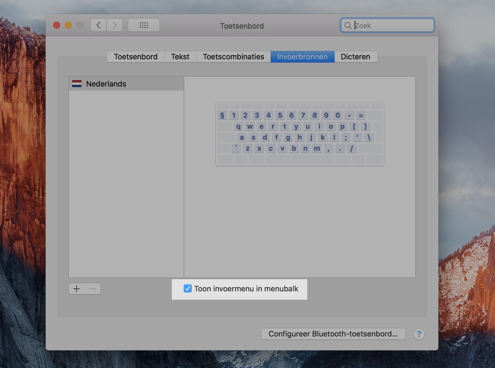 macOS speciale tekens