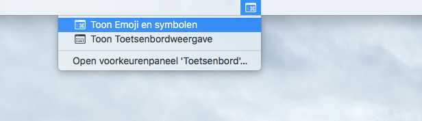 Mac speciale tekens