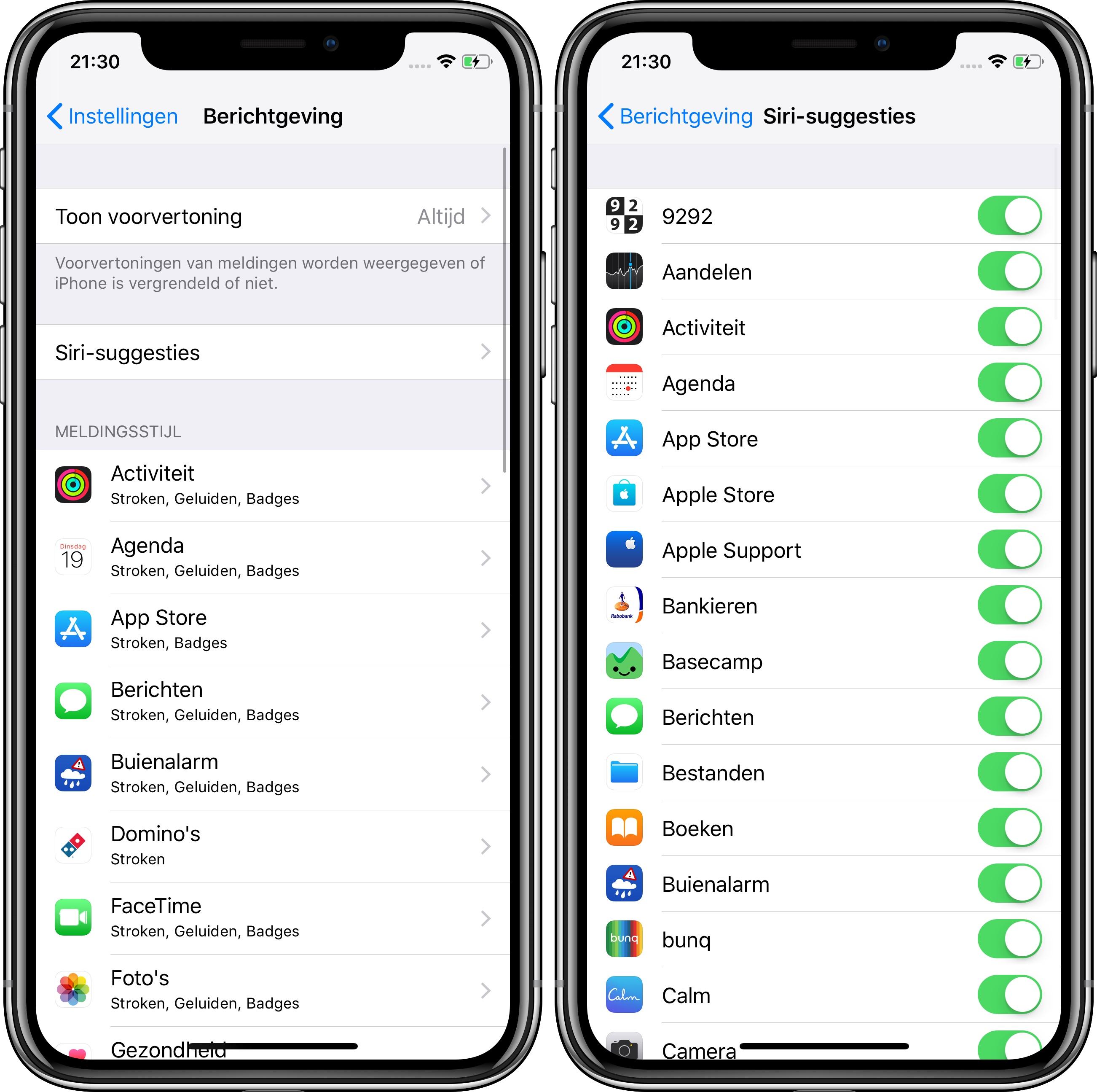 iOS 12 beta 2 siri suggesties berichtgeving