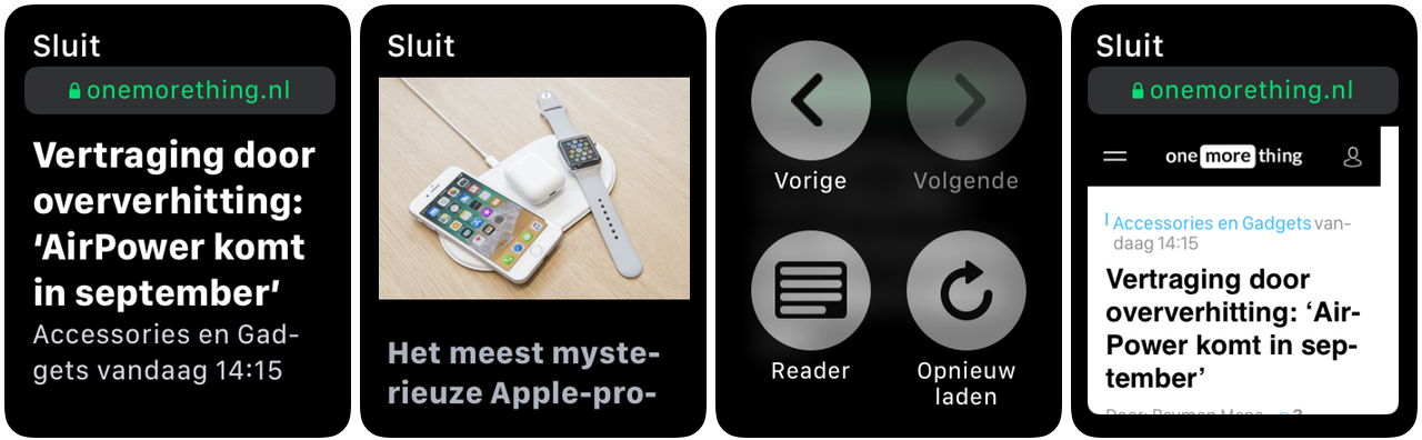 watchOS 5 reader