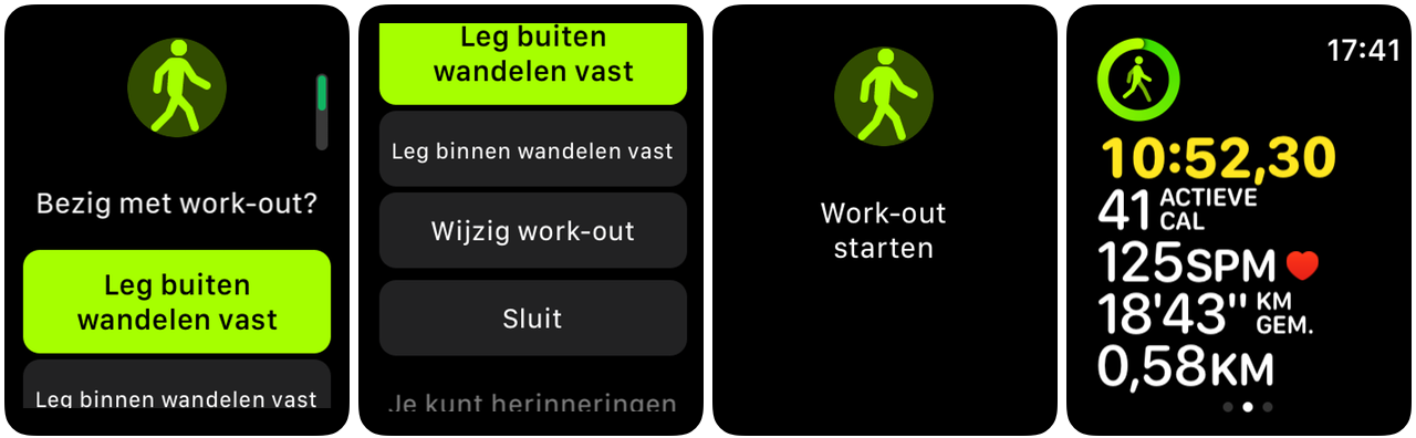 watchOS 5 work-out outmatisch