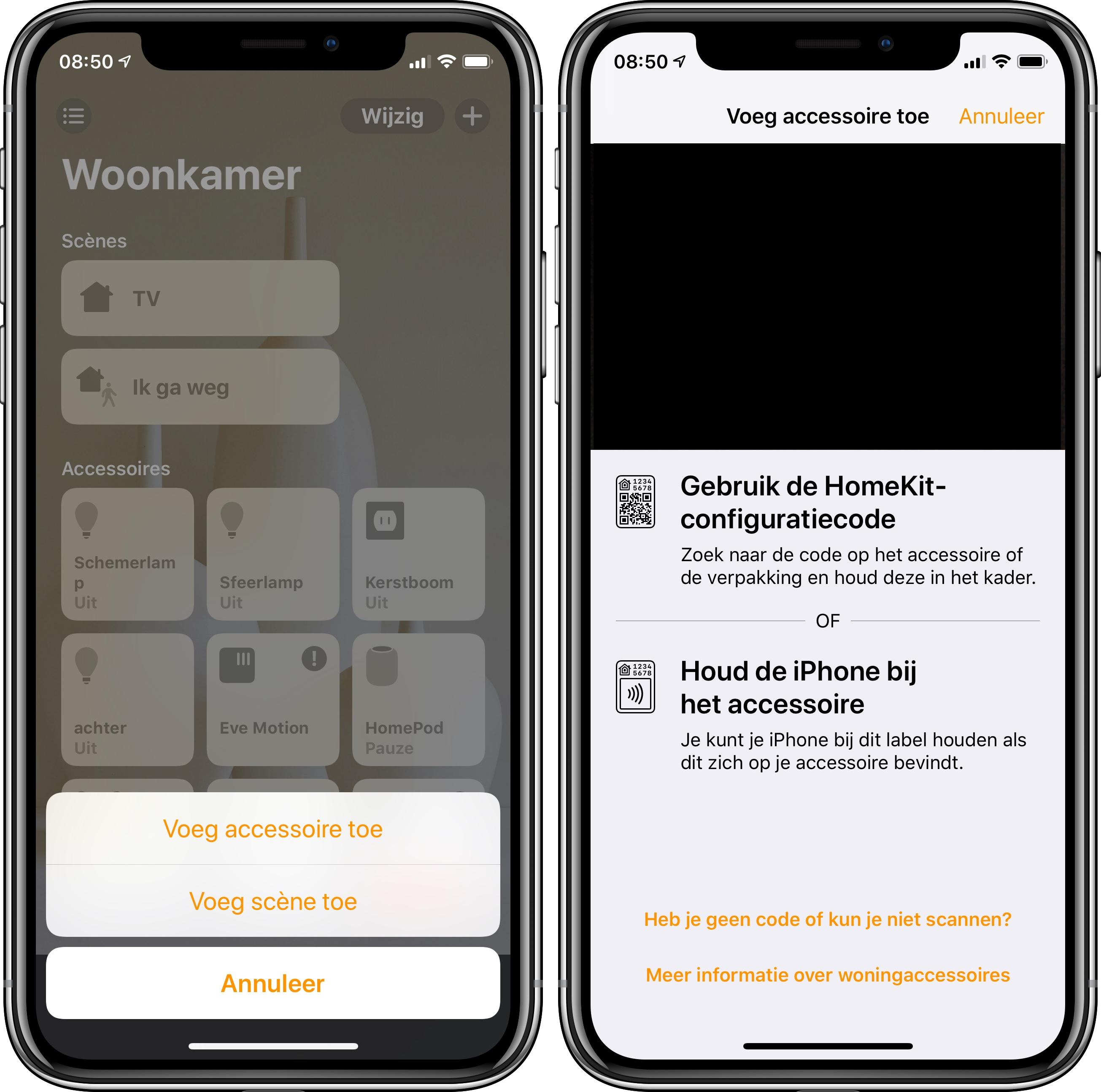 AirPlay 2 woning-app ios