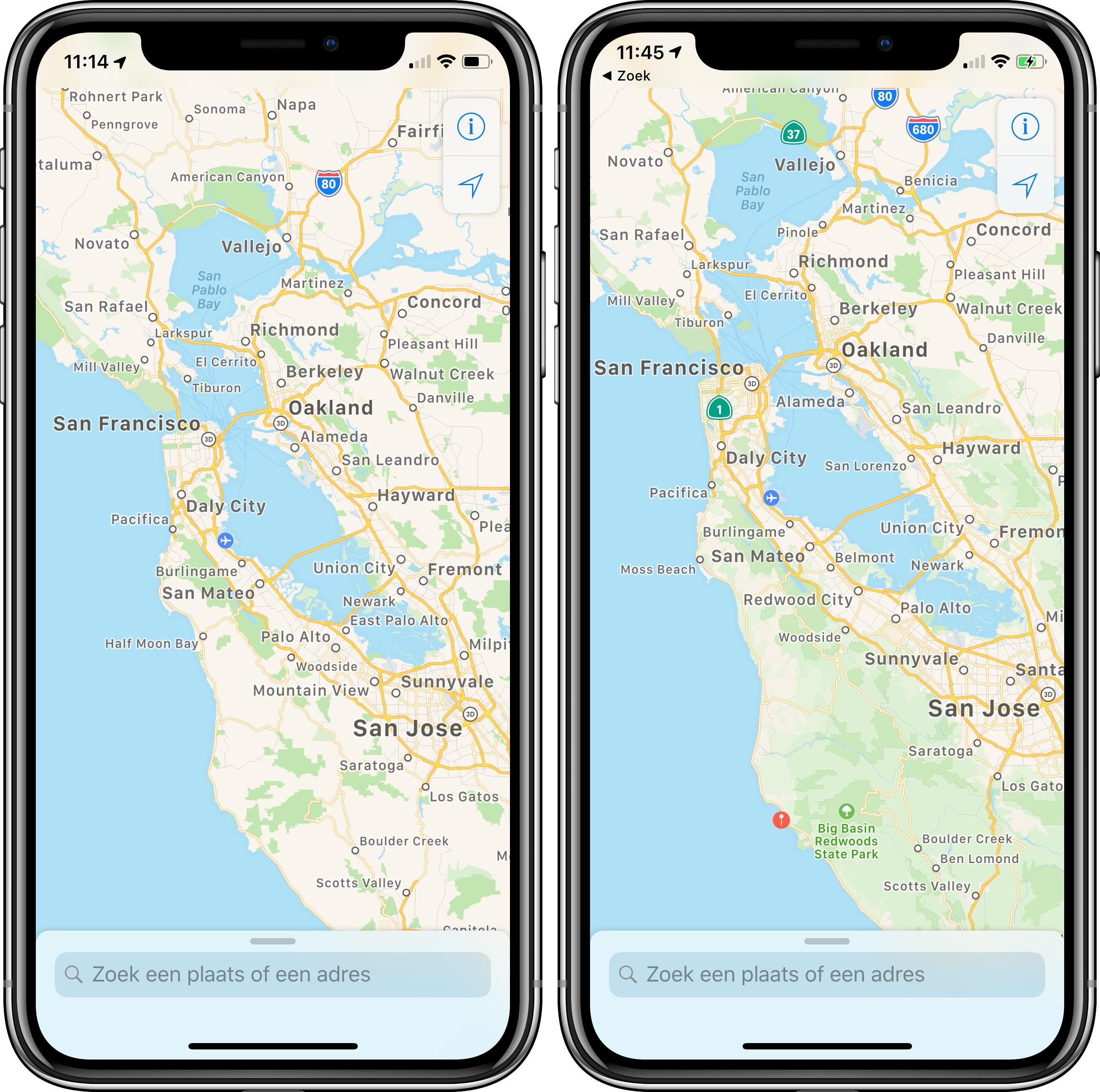 Apple Maps nieuw oud 004